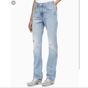 Calvin Klein Mom Jean High Rise Straight Fit Jeans